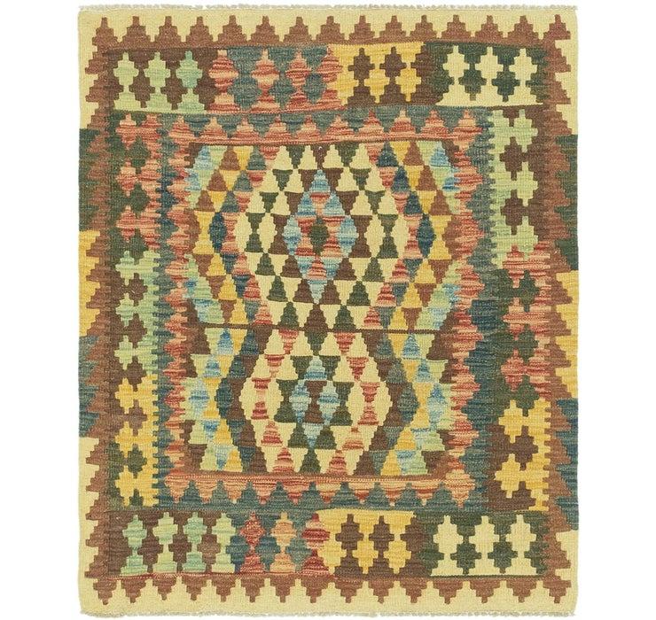 Image of 100cm x 117cm Kilim Maymana Square Rug