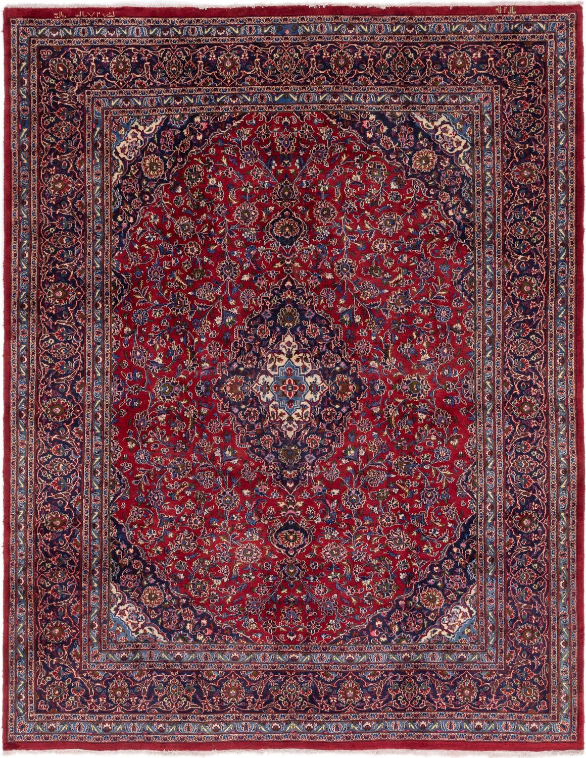 Red 292cm X 370cm Mashad Persian Rug