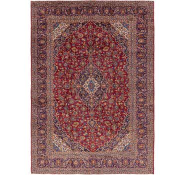 Image of 9' 7 x 13' 7 Kashan Persian Rug
