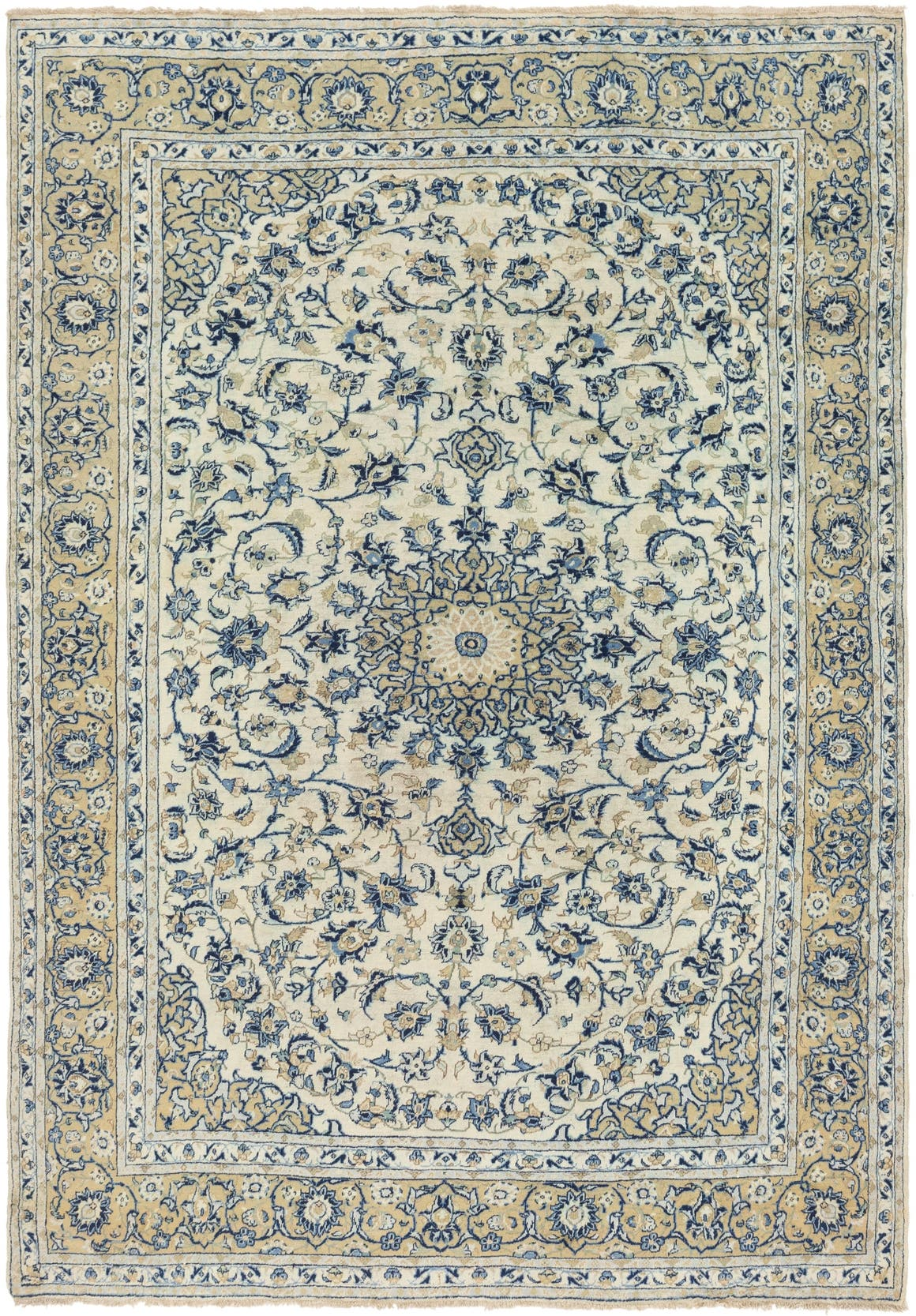 Cream 7 10 X 11 4 Isfahan Persian Rug