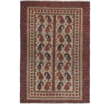 Image of 4' x 5' 10 Balouch Persian Rug