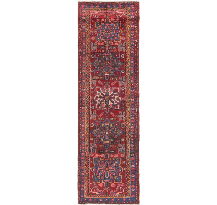 Image of 97cm x 318cm Gharajeh Persian Runner...