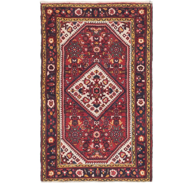 3' 4 x 5' 3 Hossainabad Persian Rug