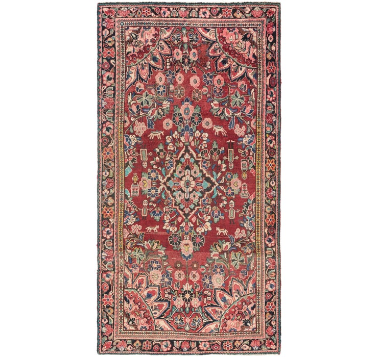137cm x 275cm Borchelu Persian Runner...