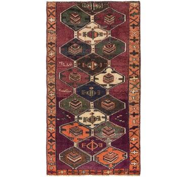 4' 3 x 8' Shiraz Persian Rug main image