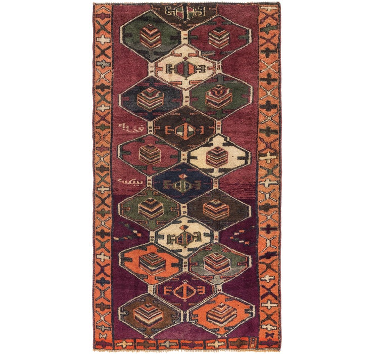 4' 3 x 8' Shiraz Persian Rug