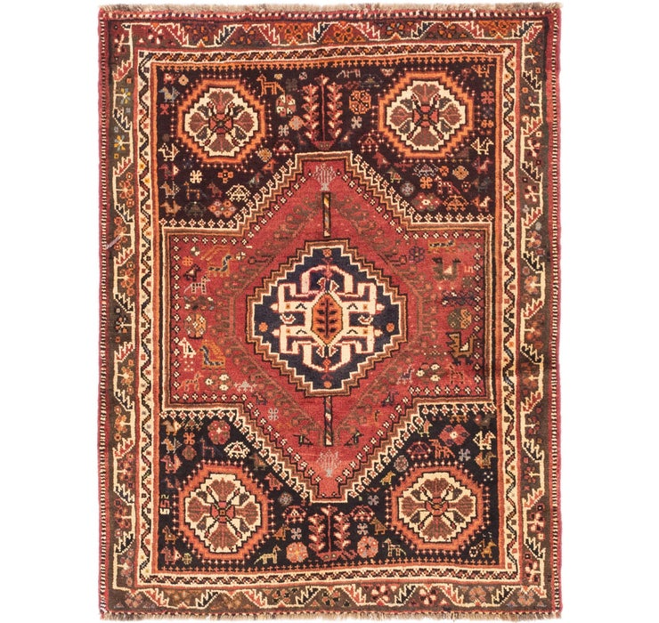 4' x 5' 4 Ghashghaei Persian Rug