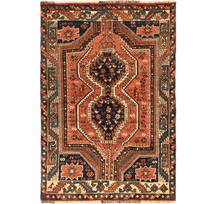 3' 9 x 5' 8 Ghashghaei Persian Rug