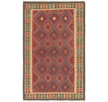 Image of 5' x 8' 2 Kilim Maymana Rug