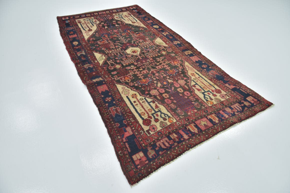 4' 9 x 9' 6 Nahavand Persian Runner Rug main image