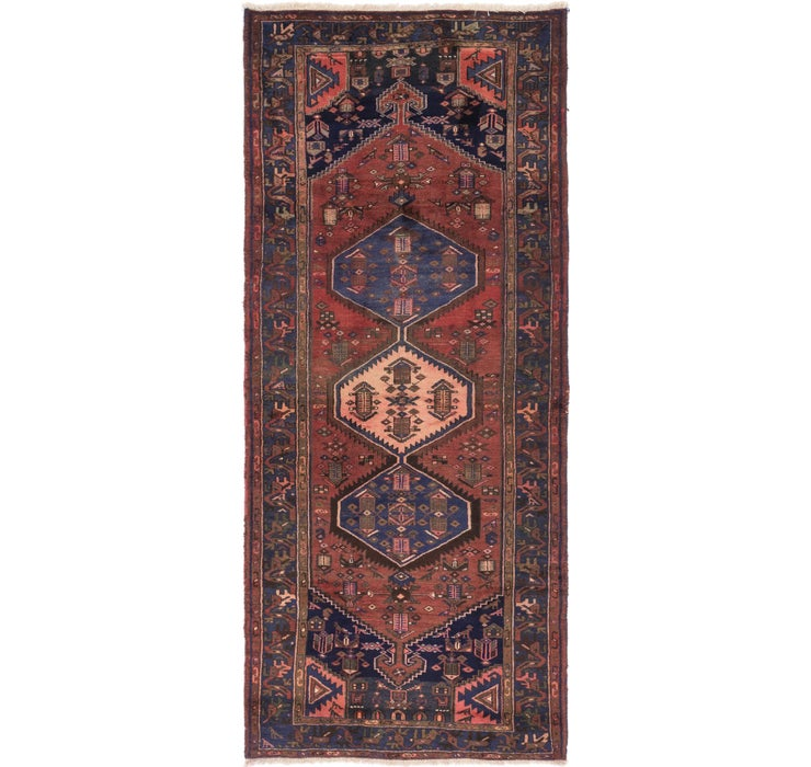 135cm x 323cm Zanjan Persian Runner Rug