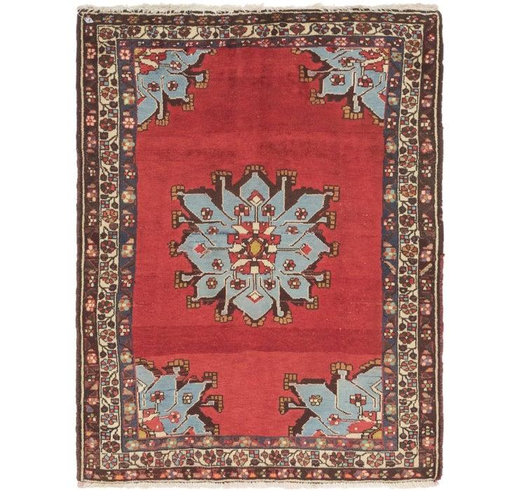 110cm x 142cm Hamedan Persian Rug