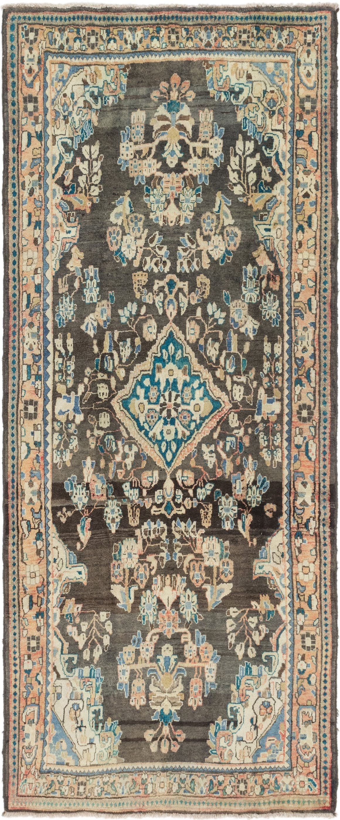 4' 4 x 9' 10 Hamedan Persian Runner Rug main image
