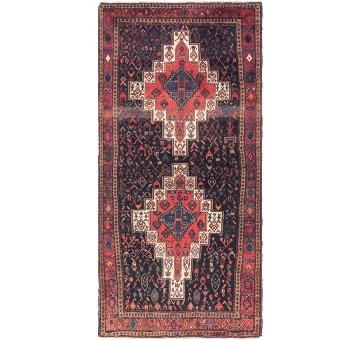 132cm x 275cm Senneh Persian Runner Rug