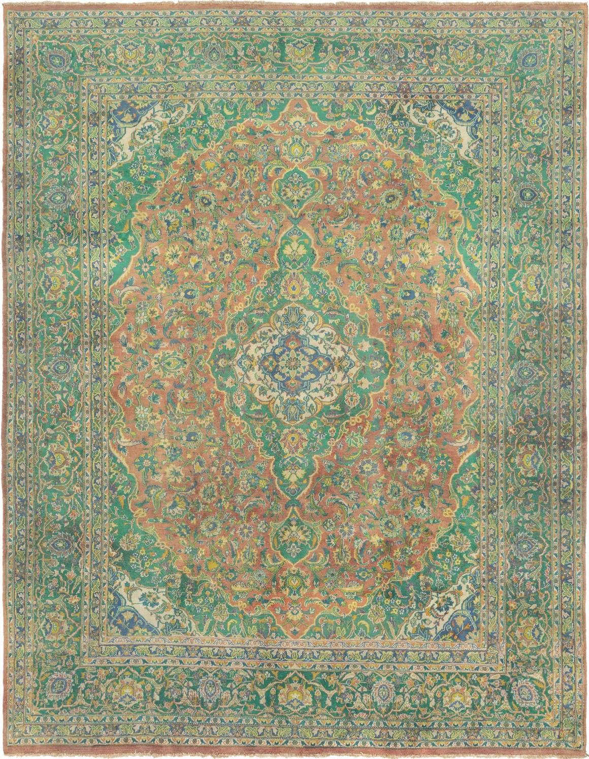 Green 305cm X 395cm Mashad Persian Rug