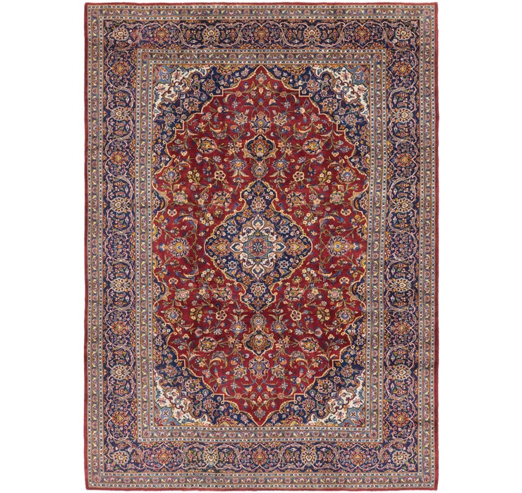 8' 8 x 12' 6 Kashan Persian Rug