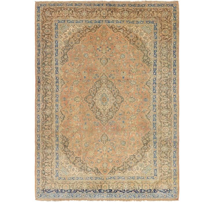 9' 10 x 13' 8 Kashan Persian Rug