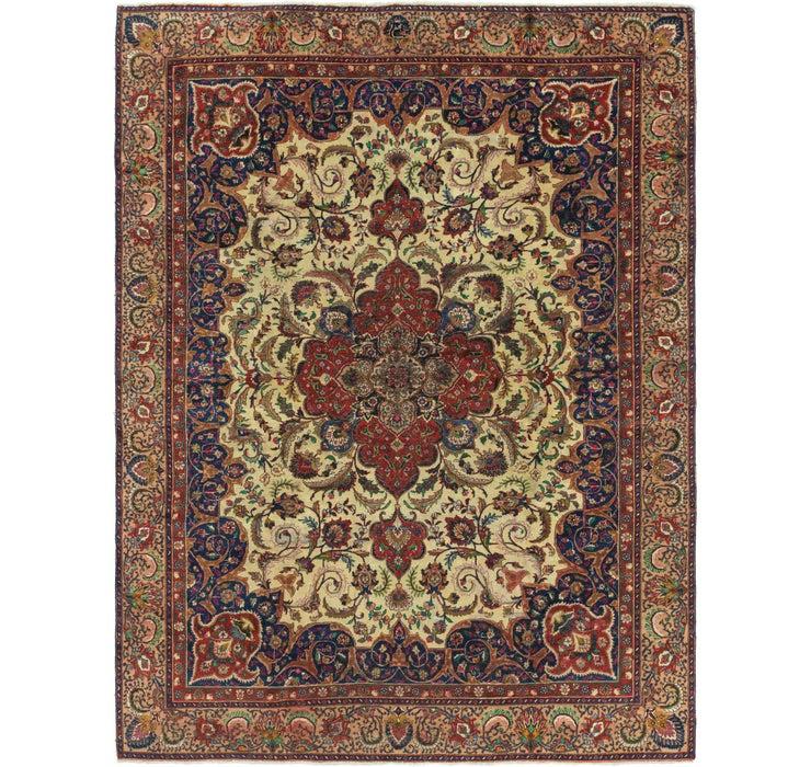 9' 2 x 11' 10 Tabriz Persian Rug