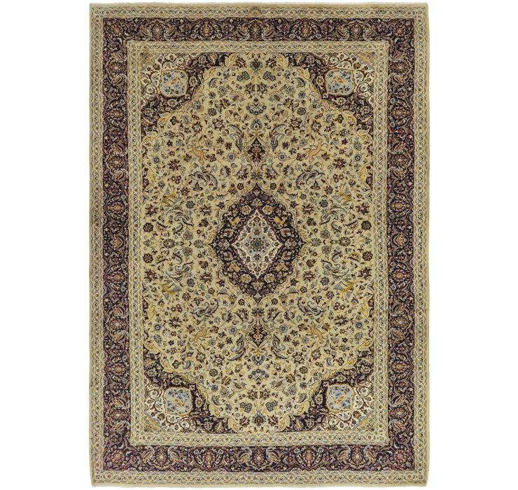 9' 8 x 13' 9 Kashan Persian Rug