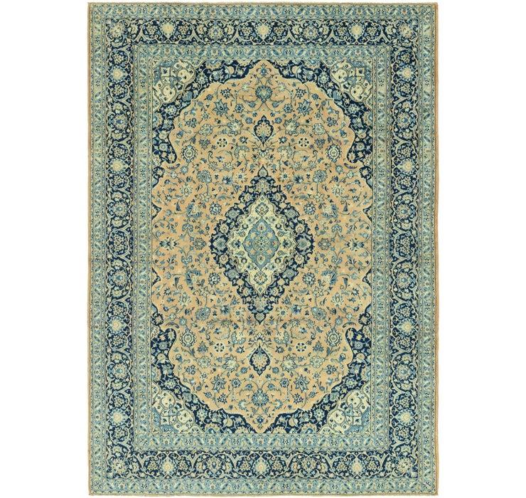 9' 6 x 13' 9 Kashan Persian Rug