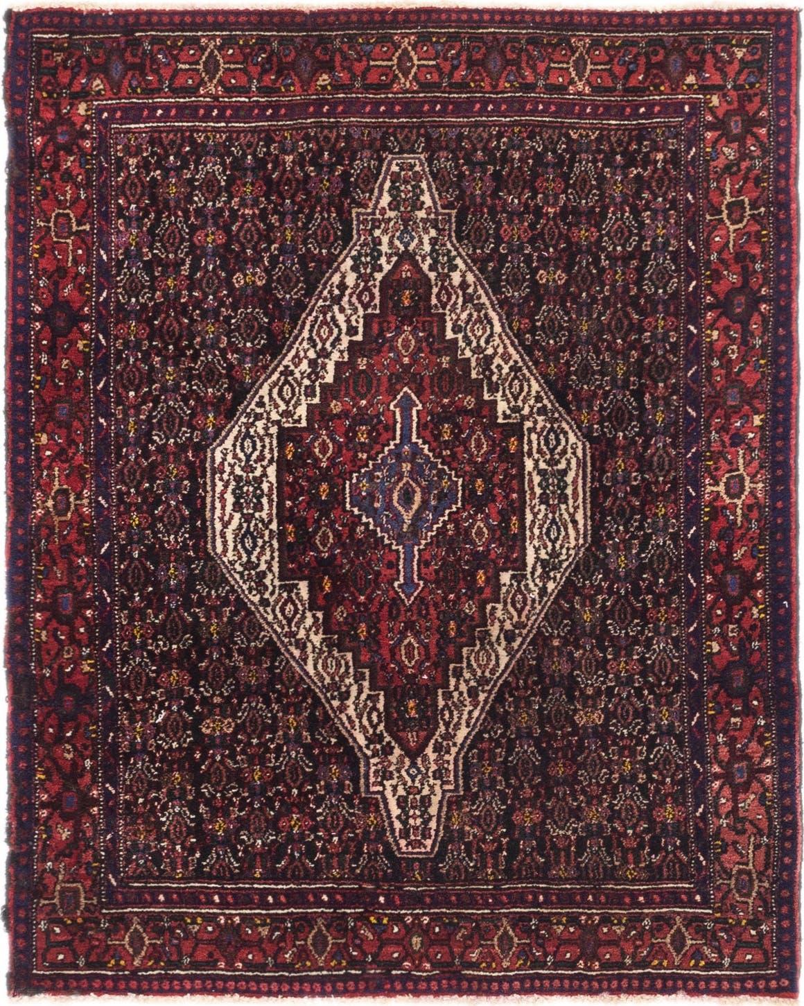 4' 5 x 5' 4 Senneh Persian Square Rug main image