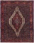 4' 5 x 5' 4 Senneh Persian Square Rug thumbnail