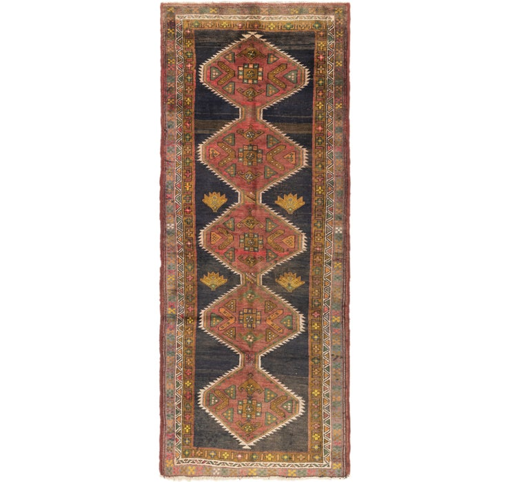 4' x 10' 2 Shiraz Persian Runner Rug