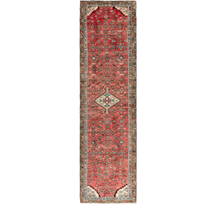 3' 3 x 13' Hossainabad Runner Rug