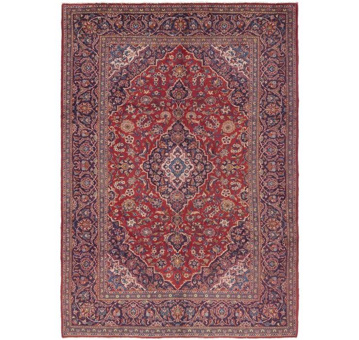 7' 2 x 10' Kashan Persian Rug