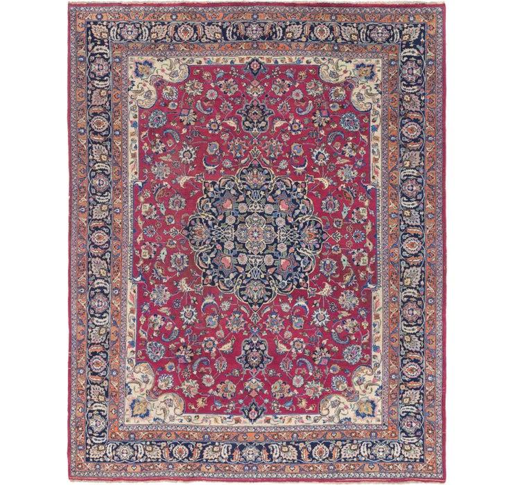 320cm x 395cm Mashad Persian Rug