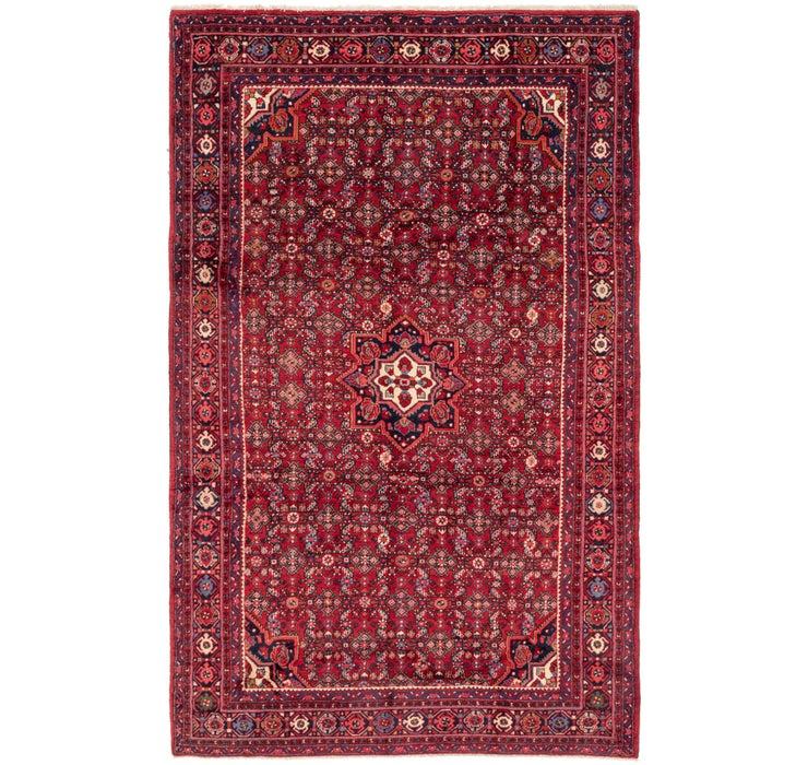7' x 11' 4 Hossainabad Persian Rug
