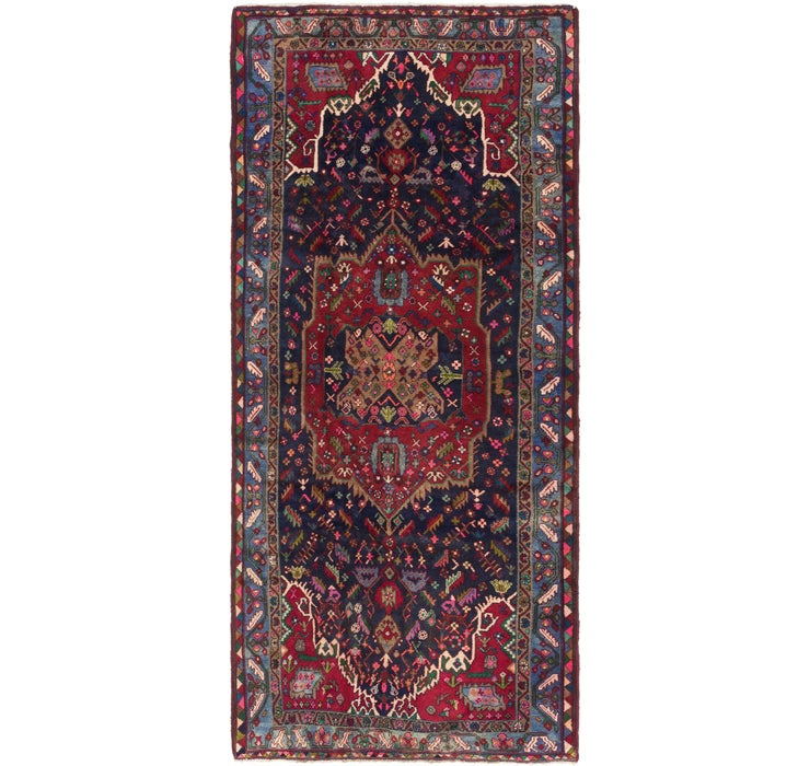 Image of 4' 3 x 9' 10 Gholtogh Persian Runner...