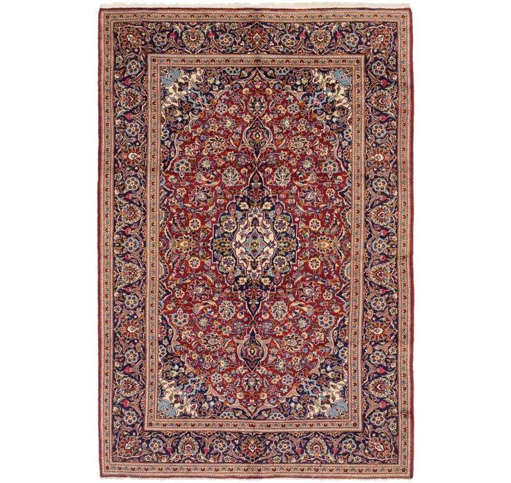 6' 7 x 10' 2 Kashan Persian Rug