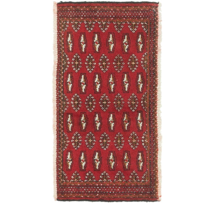50cm x 102cm Torkaman Persian Rug