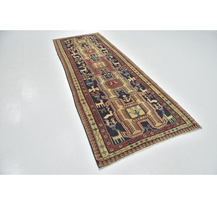 4' x 11' Ardabil Persian Runner ...