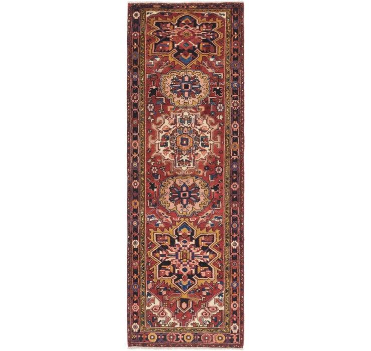 102cm x 328cm Heriz Persian Runner Rug