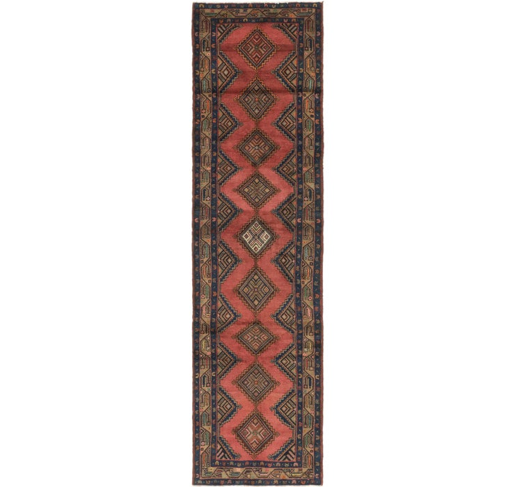 3' 3 x 11' 10 Chenar Persian Runner Rug