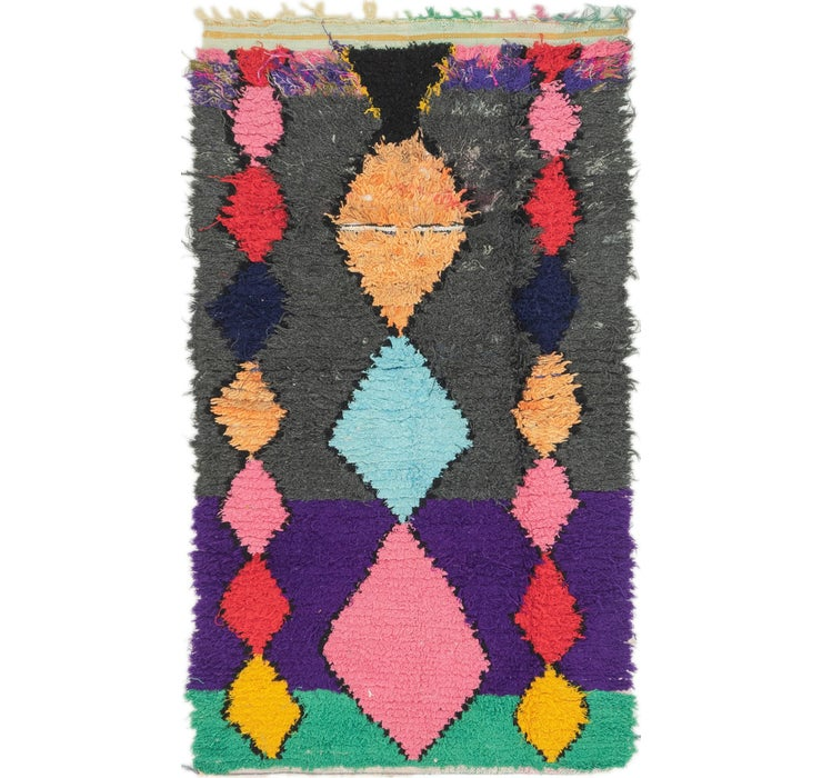102cm x 183cm Moroccan Rug