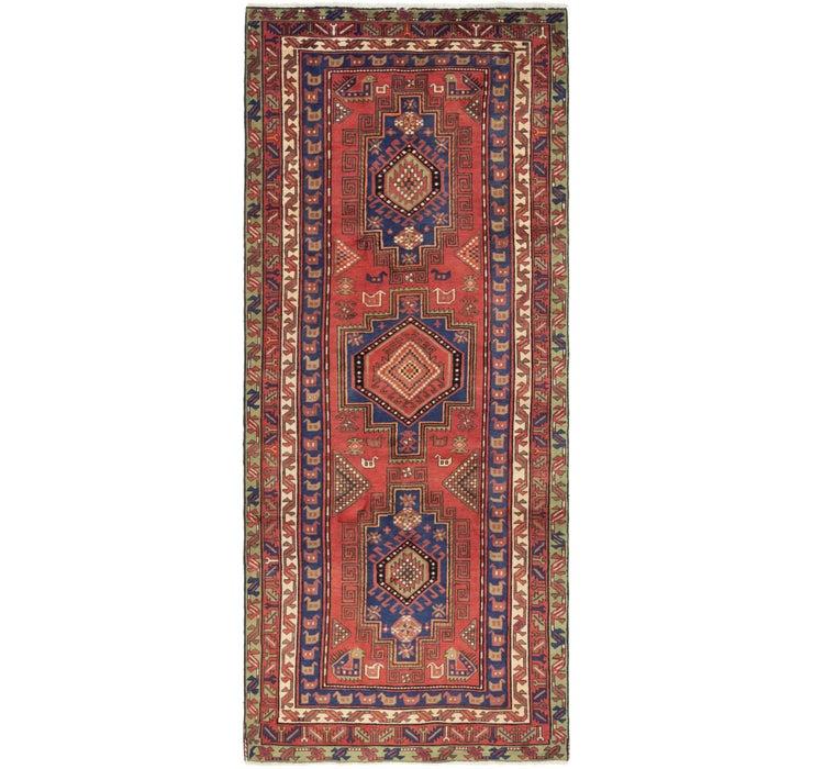 142cm x 343cm Zanjan Persian Runner Rug