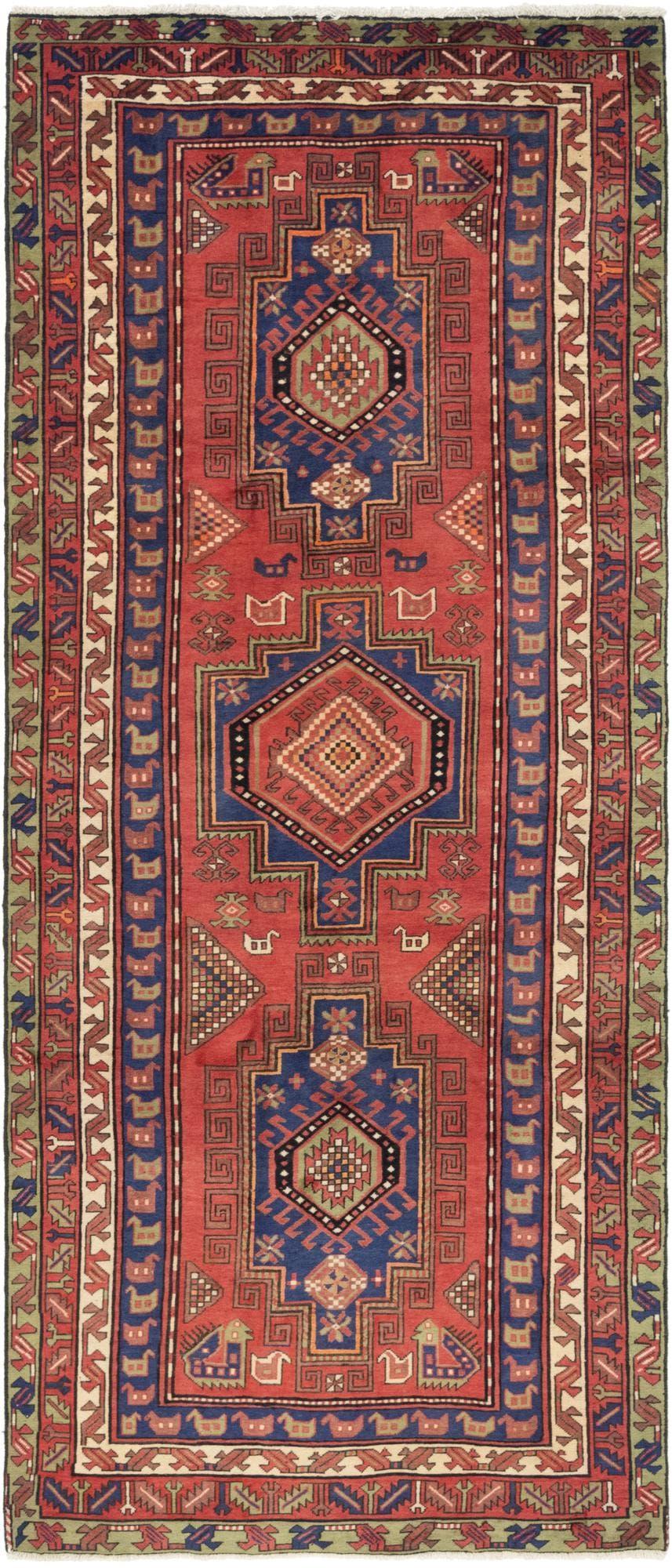 4' 8 x 11' 3 Zanjan Persian Runner Rug main image