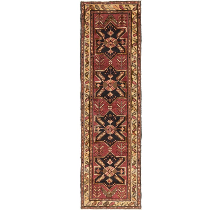 115cm x 385cm Shiraz Persian Runner Rug