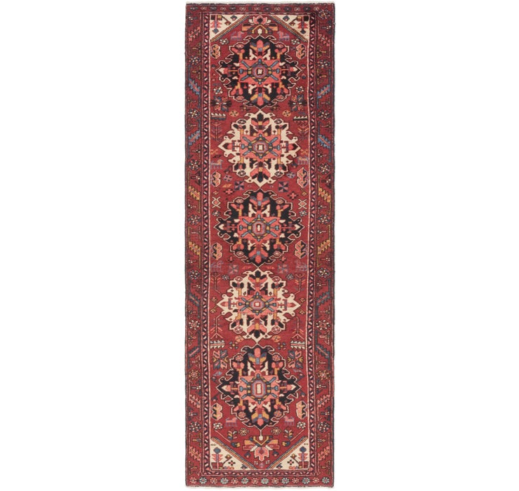 Image of 90cm x 312cm Gharajeh Persian Runner...