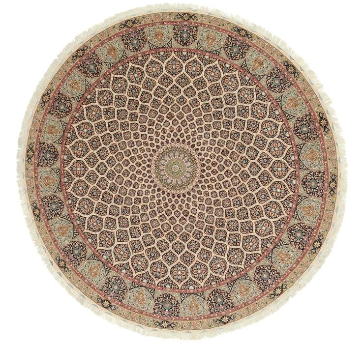 390cm x 390cm Tabriz Persian Round Rug