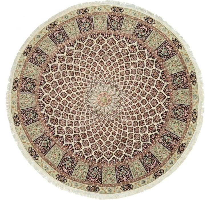 13' 3 x 13' 3 Tabriz Persian Round Rug
