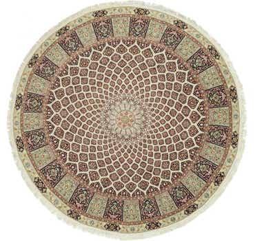 Image of 13' 3 x 13' 3 Tabriz Persian Round Rug