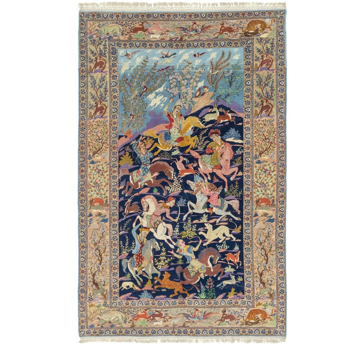 230cm x 355cm Isfahan Persian Rug