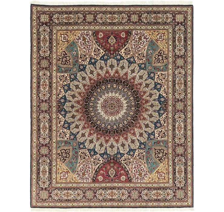 203cm x 257cm Tabriz Persian Square Rug