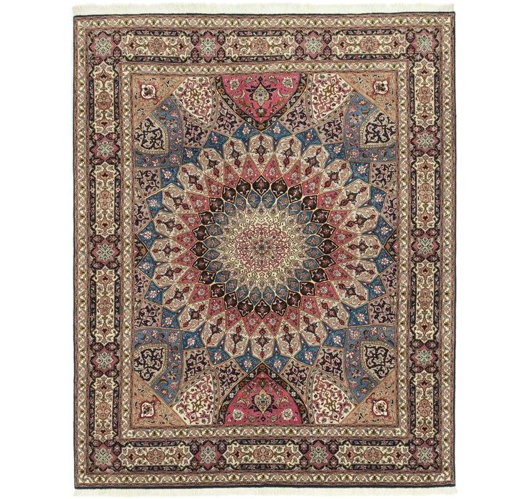 203cm x 250cm Tabriz Persian Square Rug