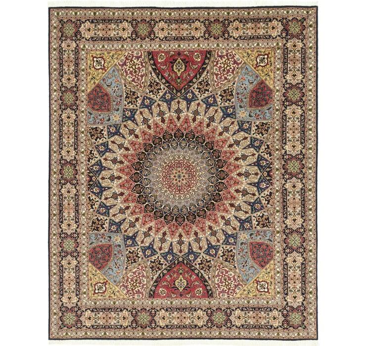 203cm x 255cm Tabriz Persian Square Rug