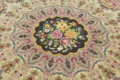 6' 6 x 6' 6 Tabriz Persian Round Rug thumbnail